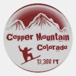 Copper Mountain Colorado red snowboard stickers