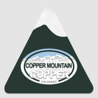Copper Mountain Colorado Rocky Mountains Triangle Sticker