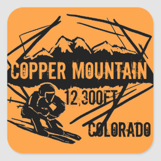 Copper Mountain Colorado ski elevation stickers