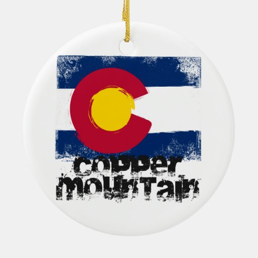 Copper Mountain Grunge Flag Ornament