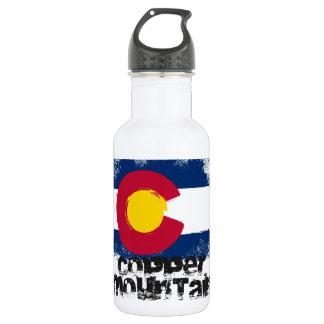 Copper Mountain Grunge Flag 18oz Water Bottle