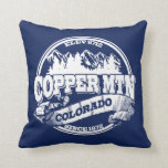 Copper Mountain Old Circle Blue Throw Pillows