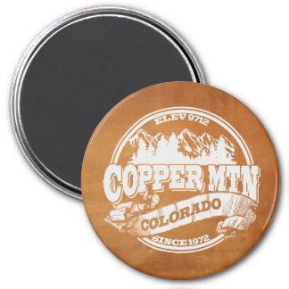 Copper Mountain Old Circle Copper 3 Inch Round Magnet