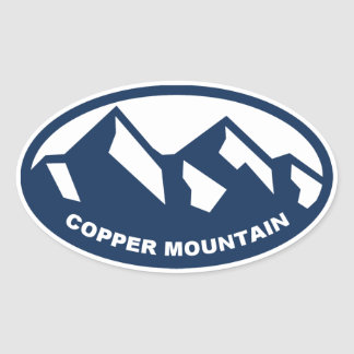 Copper Mountain Oval Oval Sticker
