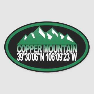 Copper Mountain Oval Oval Stickers
