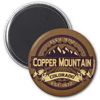 Copper Mountain Sepia 2 Inch Round Magnet