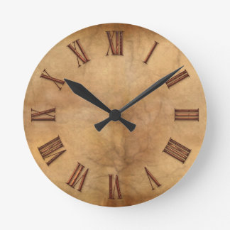 Copper on Parchment-effect Modern Art Clock