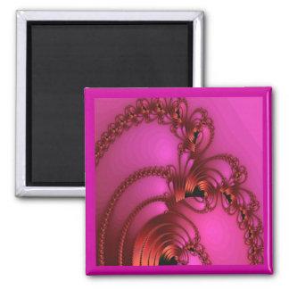 Copper On Pink Fridge Magnets