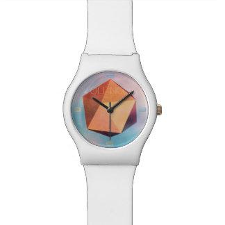 Copper Ore 3D Geometric art Watch