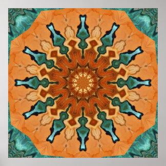 Copper Patina Mandala Poster