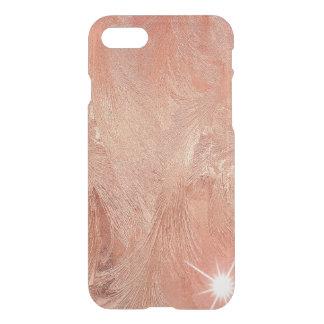 Copper Peach Rose Gold Sand Grain Swirl Metallic iPhone 7 Case