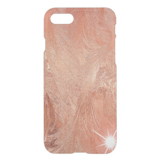 Copper Peach Rose Gold Sand Grain Swirl Metallic iPhone 8/7 Case