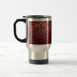 Copper Peacock Travel Mug