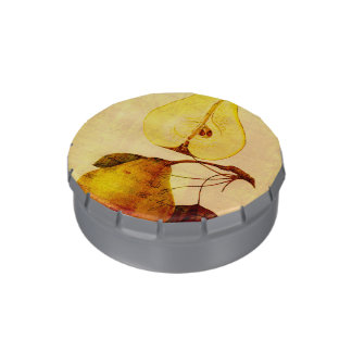 Copper Pear Jelly Belly Candy Tin