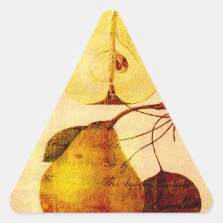 Copper Pear Triangle Sticker