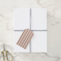 Copper Pennies Array Pattern Design Gift Tags