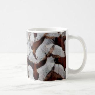 Copper Pheasant Feather Close-Up Coffee Mug