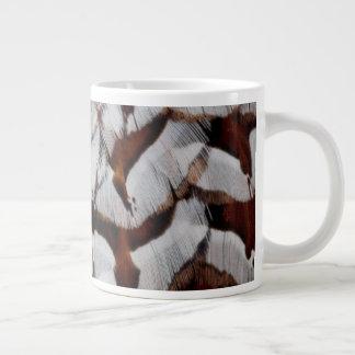 Copper Pheasant Feather Close-Up Giant Coffee Mug