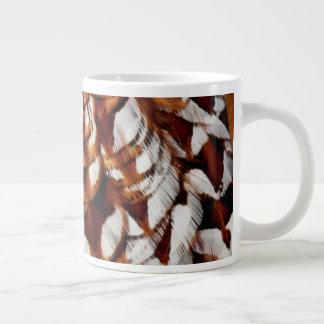 Copper Pheasant Feather Design Large Coffee Mug