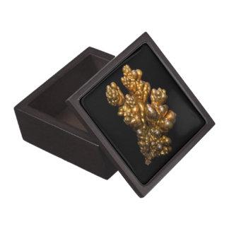 Copper Photo on Black Background Trinket Box