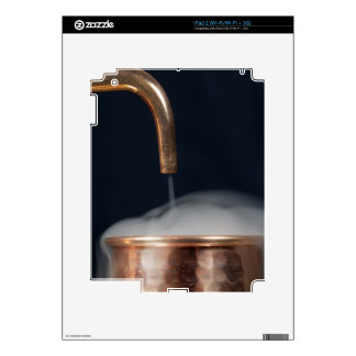 copper pipe of a distillery with steam. skin for iPad 2
