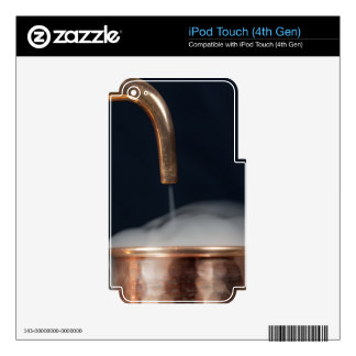 copper pipe of a distillery with steam. skins for iPod touch 4G
