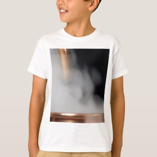 copper pipe of a distillery with steam. T-Shirt
