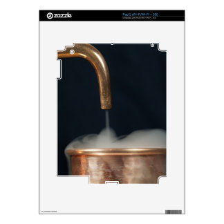 Copper pipe with steam decal for iPad 2