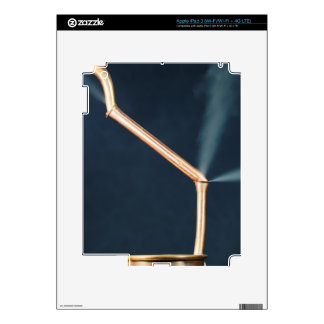 Copper pipes with a leak and steam. decal for iPad 3