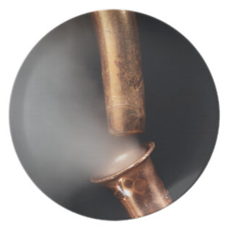 Copper pipes with steam melamine plate