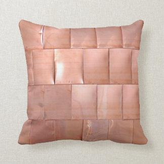 Copper Plates Throw Pillow