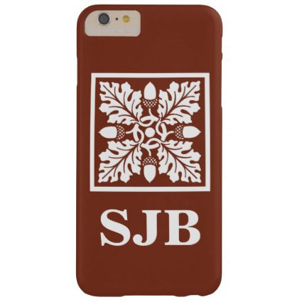 Copper Red Acorn and Leaf Tile Design Barely There iPhone 6 Plus Case