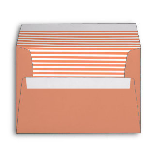 Copper Red Striped Envelope