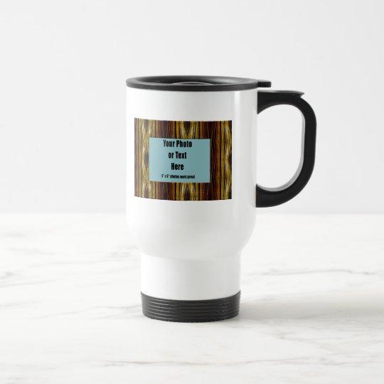 Copper Ribbons Frame - Customizable Travel Mug