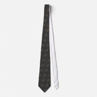 Copper Rings on graphite  zazzle tie