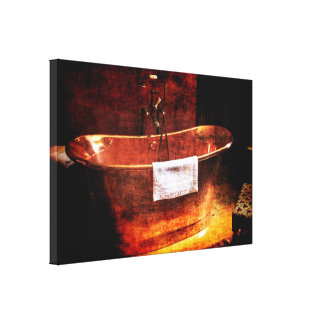 Copper Rolled-top bathtub Stretched Canvas Prints