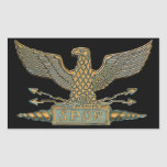 Copper Roman Eagle Rectangular Sticker