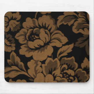 Copper  Rose Damask Mouse Pad