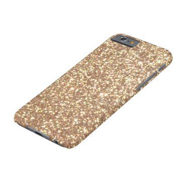 Beach Themed Copper Rose Gold Metallic Glitter Barely There iPhone 6 Case