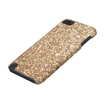 Beach Themed Copper Rose Gold Metallic Glitter iPod Touch (5th Generation) Cover