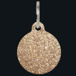 """Copper Rose Gold Metallic Glitter Pet Tag<br><div class=""""desc"""">Copper Rose Gold Metallic Glitter Like sparkly jewels this metallic-print glitter,  Copper Rose Gold Metallic Glitter shimmers and glimmers like embers. Copper Rose Gold Glitter adds glitz and shine to all customized gift-giving for the holidays.</div>"""