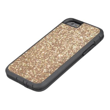 Beach Themed Copper Rose Gold Metallic Glitter Tough Xtreme iPhone 6 Case