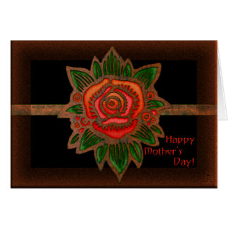 Copper Rose (Personalized for Mothers Day) Card