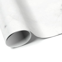 Copper Rose White Silver Carrara Marble Stone Lux Wrapping Paper