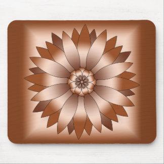 Copper Rosette Mouse Pad