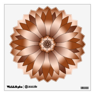 Copper Rosette Wall Sticker