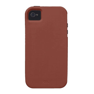 Copper Rust Brown Red Color Trend Blank Template Vibe iPhone 4 Cases