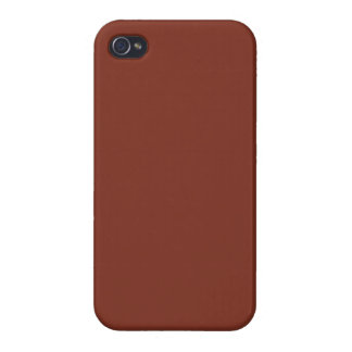 Copper Rust Brown Red Color Trend Blank Template iPhone 4/4S Cover