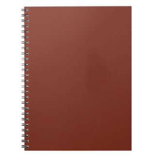 Copper Rust Brown Red Color Trend Blank Template Notebook