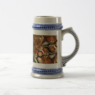 Copper Sci-Fi Abstract Art 18 Oz Beer Stein